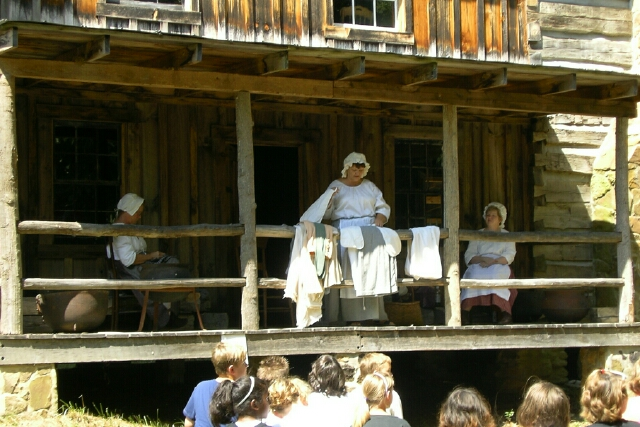 Pioneer Clothing Demonstration